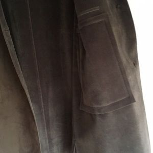 Harve Benard Jackets & Coats - Army/olive green, faux suede car coat. Size 10